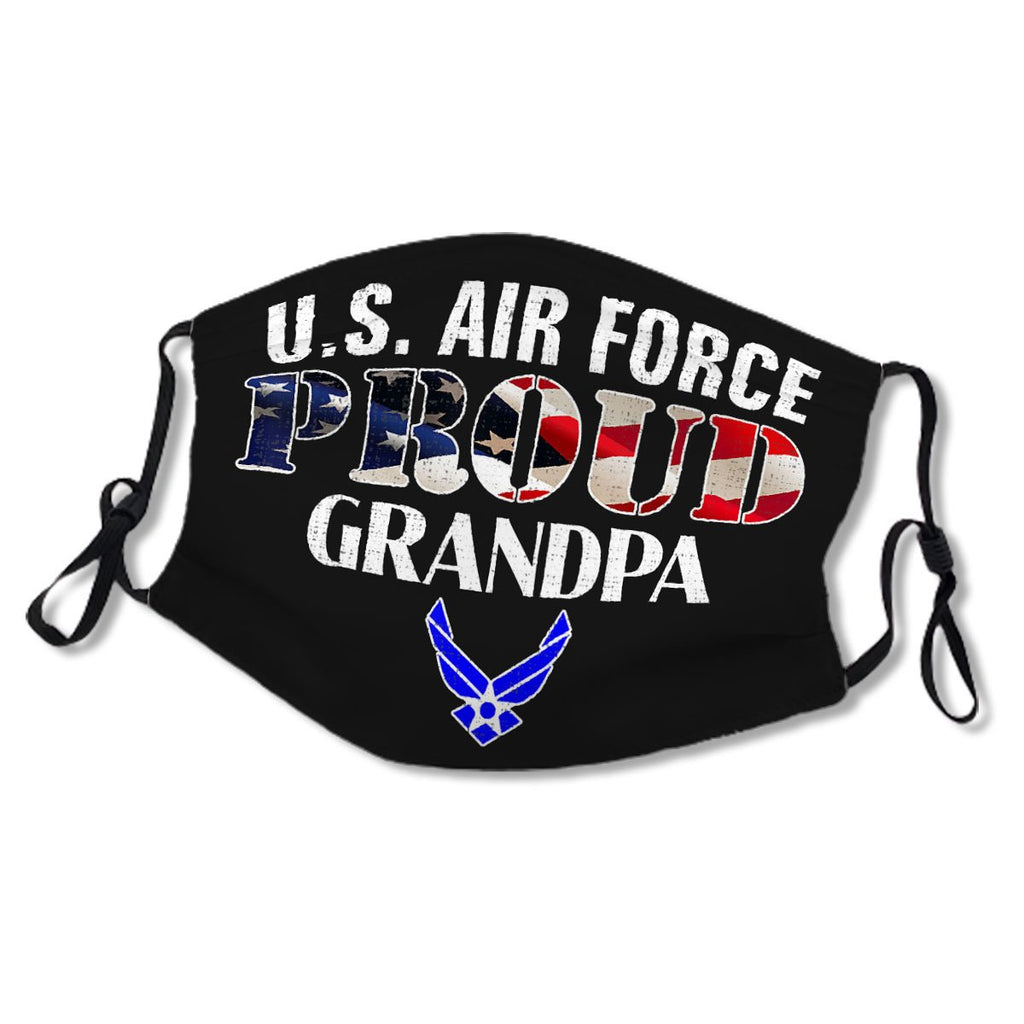 Proud Air Force Grandpa American Flag No.ISERZR