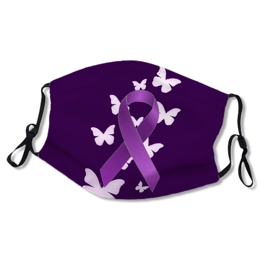 Purple Awareness Ribbon with Butterflies Cloth NO. MECMTK