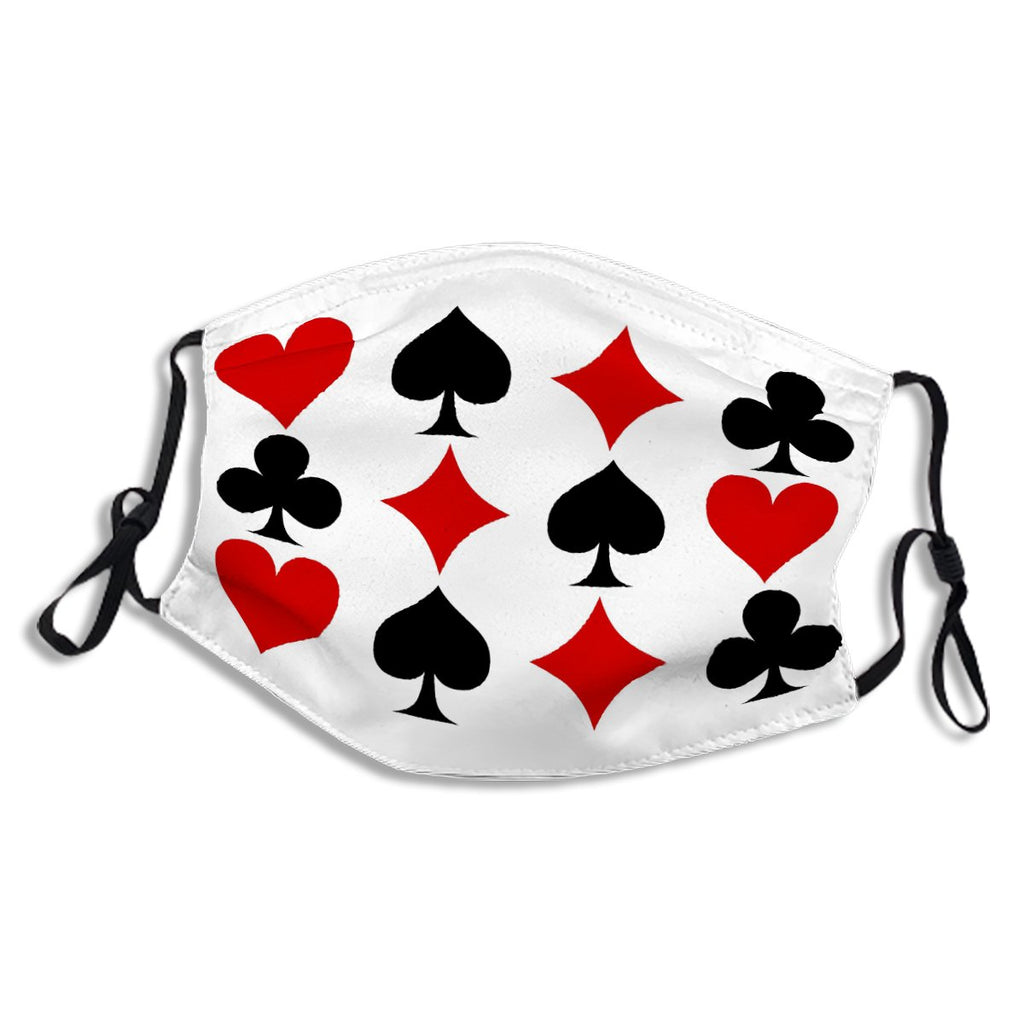 Black And Red Poker Playing Card Symbols White No.MX9QFR