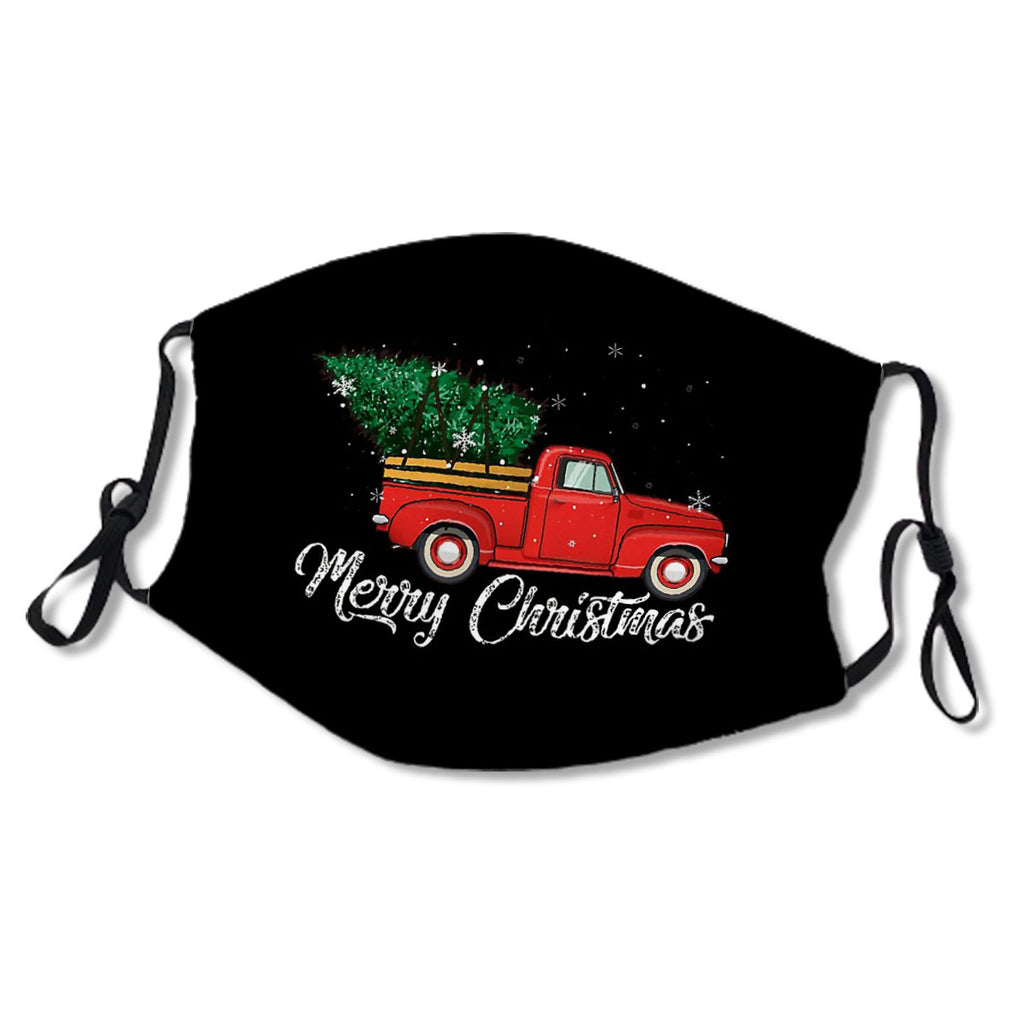 Red Truck Pick Up Christmas Tree Vintage Retro Sweater Gift For Men And Women, Halloween day, Thanksgiving day, Christmas day No.MYCIAC