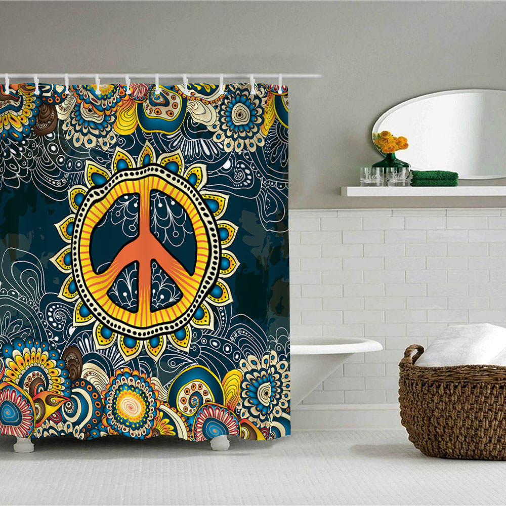 Peace And Love Shower Curtain 13
