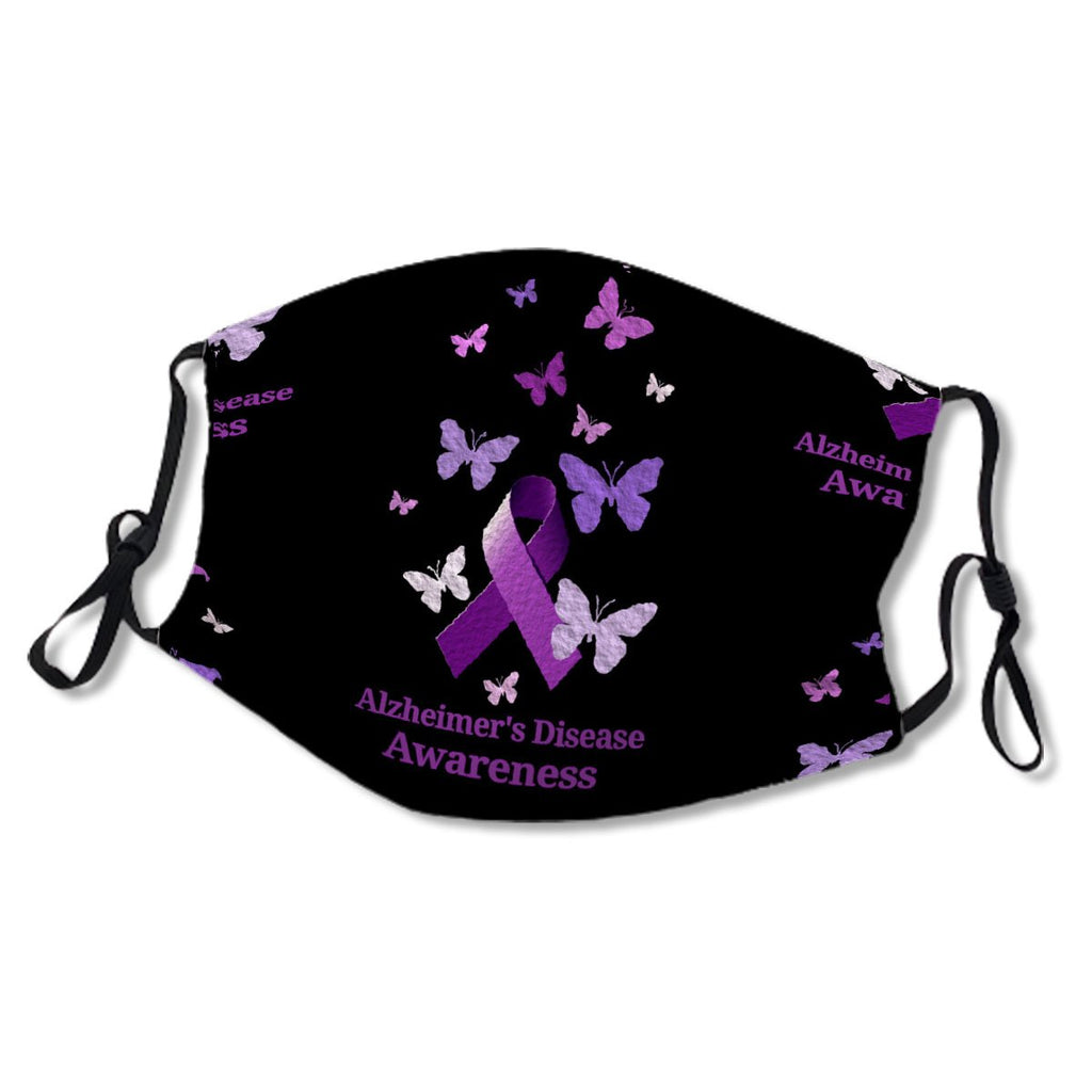 Alzheimer's Disease Awareness Purple Ribbon Cloth NO. ULA69X