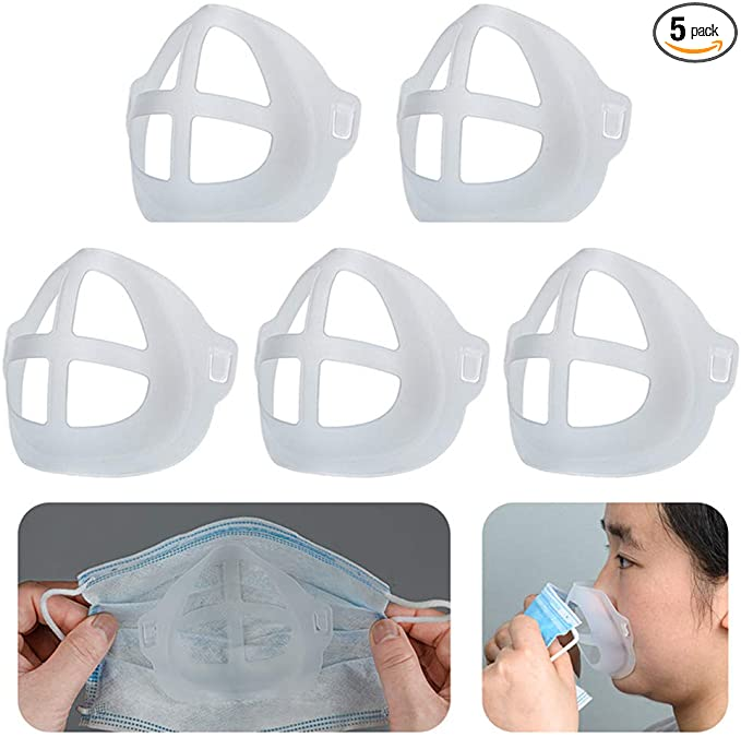 Cool Lipstick Protection Stand - 3D Mask Bracket - Nasal Mask Pad - Inner Support Bracket Breathing - Mouth and Nose Protection Lipstick Increase Breathing Space Help Breathe Smoothly 5PC~$6.69