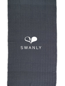Swanly Ordu Turkish Peshtemal Towel  Navy Blue