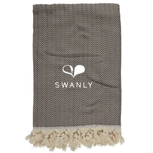 Swanly Warwick Throw   Brown