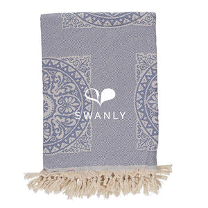 Swanly Camile Throw  Denim Blue