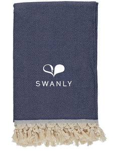 Swanly Cambridge Throw   Navy Blue