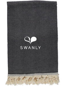 Swanly Cambridge Throw   Black