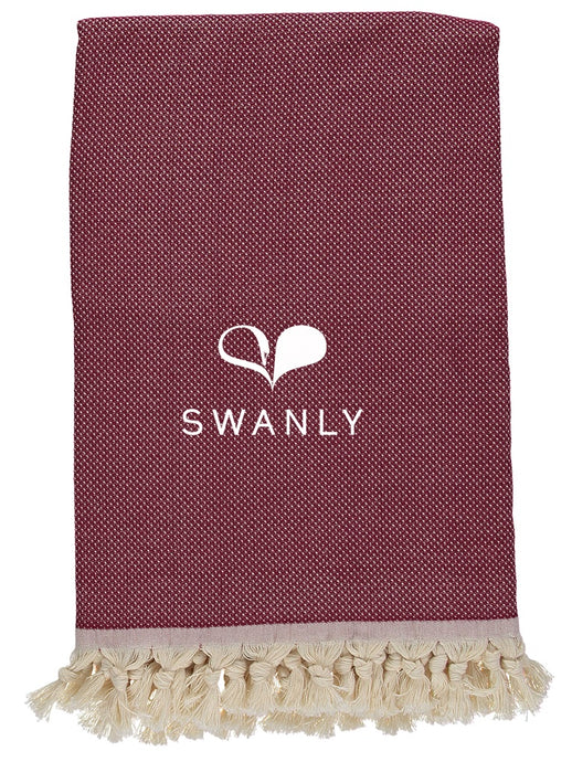 Swanly Cambridge Throw   Burgundy