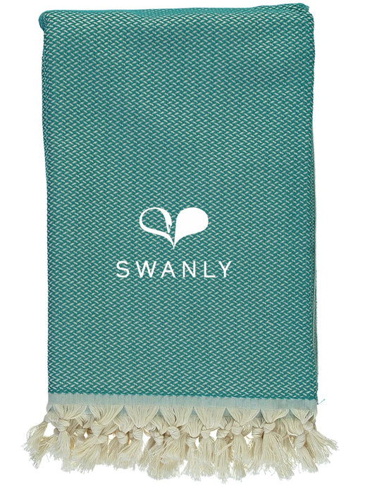 Swanly Bancroft Throw   Teal