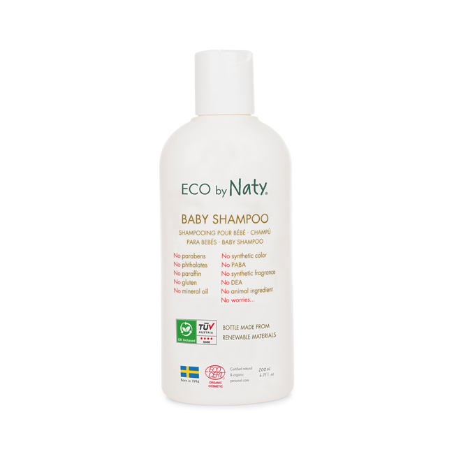 ECO By Naty, Baby Shampoo, Økologisk, 200 ml