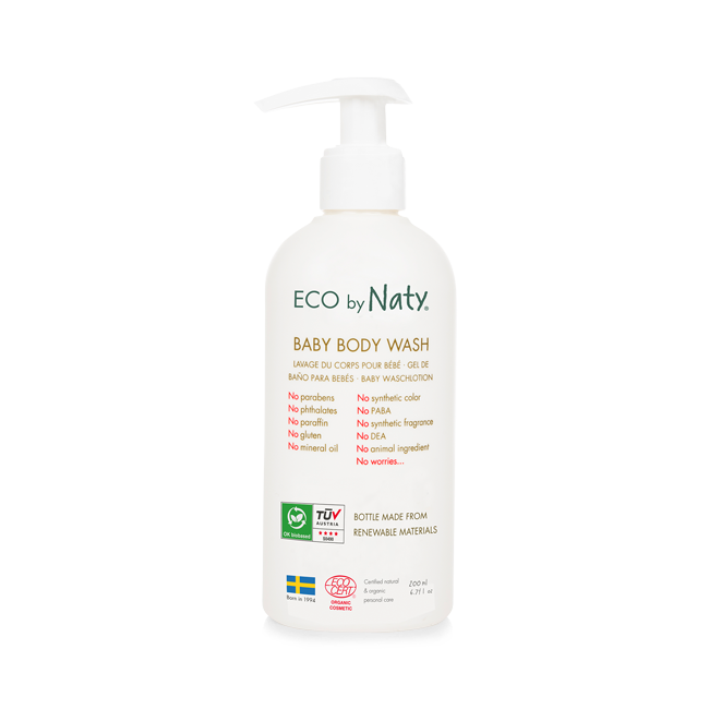 ECO By Naty, Baby Body Wash, Økologisk, 200 ml