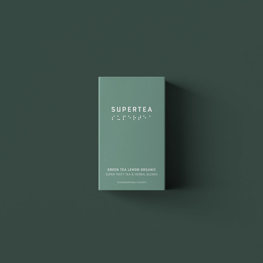 supertea - green tea lemon, 20 breve økologisk