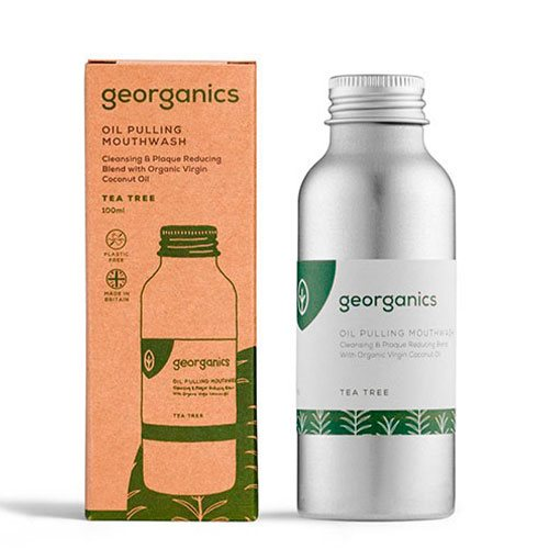 Georganics - Mundskylleolie (Oil Pulling), Tea Tree, 100 ml
