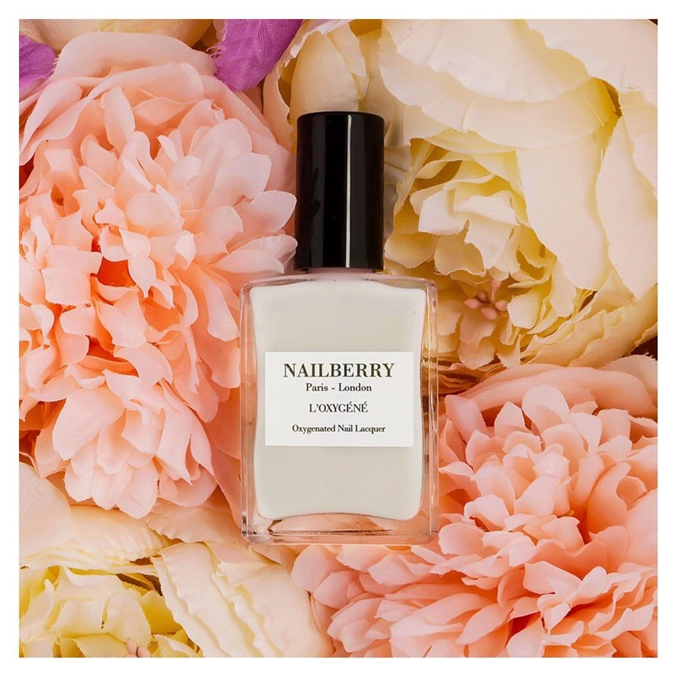 nailberry - white mist, 15 ml.