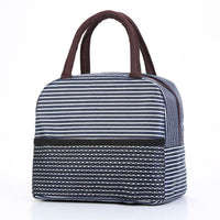 1PCs New Fresh Waterproof Nylon Portable Zipper Thermal Oxford Lunch Bags Waterproof Convenient Leisure Bags Tote Food Bags 2020