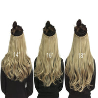 "12""14"" 16"" 18"" Wave Halo Hair Extensions Invisible Ombre Bayalage Synthetic Natural Flip Hidden Secret Wire Crown Hair Piece"