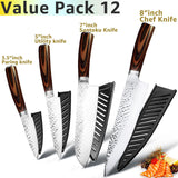 Kitchen Knife 8 Inch Professional Japanese Chef Set 7CR17 Stainless Steel Full Tang Sharp Meat Cleaver Vegetable Slicer Santoku