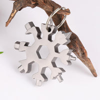 18-in-1 edc multi-tool Snowflake Multi-tool Card Combination Compact Multifunction Screwdriver Stainless Steel Gadget
