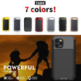 Heavy Duty Metal Aluminum Phone Case for iPhone SE 2020 Doom Armor Shockproof Case Cover