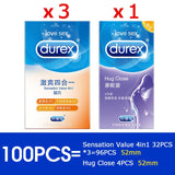 Durex Condom 4 Types Ultra Thin 100 Pcs Lubrication Natural Rubber Products Latex Penis Condoms Adult Intimate Goods Sex For Men