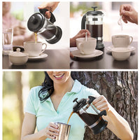 French Press Coffee/Tea Brewer Coffee Pot Coffee Maker Kettle 1000ML Stainless Steel Glass Thermos For Coffee Drinkware