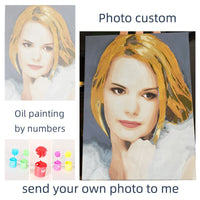 Personality Photo Customized DIY Painting By Numbers Picture Drawing Coloring by Numbers Acrylic cat adult no frame