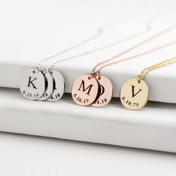 Charms for Jewelry Bracelet Personalized Bar Necklace Stainless Steel Jewelr Making Customized Nameplate Mom Gift Choker (box)