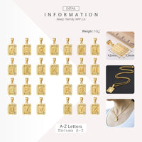 Initial Letter Pendant R Charm Yellow Gold Color Letter Necklace For Women Men Letter Name Jewelry Gift GPM05D
