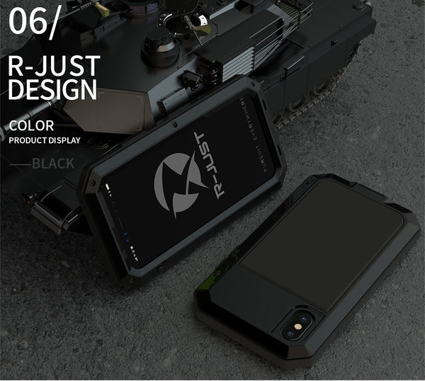 Heavy Duty Metal Aluminum Phone Case for iPhone X 2020 Doom Armor Shockproof Case Cover
