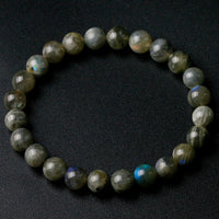 Grade A Natural India Labradorite Stone Round Beaded 8mm Lucky Gray Blue Stone Women Men Bracelet New Charm Jewelry Gift