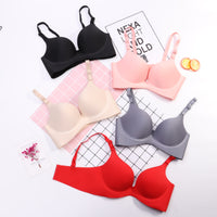 Sexy Deep U Cup Bras For Women Push Up Lingerie Seamless Bra Bralette Backless Bras Intimates Underwear Hot - Style 2 Grey