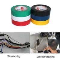9M Wire Flame Retardant Electrical Insulation Tape Electrical High Voltage PVC Tape Waterproof Self-adhesive Electrician Tape