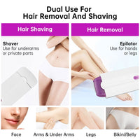 Painless Laser Hair Removal Electric Epilator For Women USB Rechargeable Razor Body Facial Leg Bikini Portable Shaver Depilator