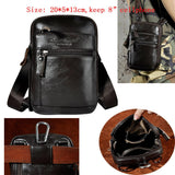 "Real Leather men Casual Design Small Waist Bag Cowhide Fashion Hook Bum Bag Waist Belt Pack Cigarette Case 5.5"" Phone Pouch 1609"