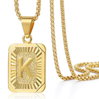 Initial Letter Pendant N Charm Yellow Gold Color Letter Necklace For Women Men Letter Name Jewelry Gift GPM05D