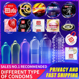 Elasun Condoms Plus Size Penis Different Varieties Large Spikes Fire Ice Condom Full Oil Smooth Lubricated Condom Hot Sale