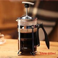 350/600ml French Presses Pot Glass Coffee Pots Hollow Cafetiere French Filter Press Hand Coffee Pot Coffee Tea Pot Press Plunger