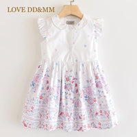 LOVE DD&MM Girls Dresses 2020 New Children's Wear Girls Sweet Flower Print Kids Dresses For Girls Clothing Costume