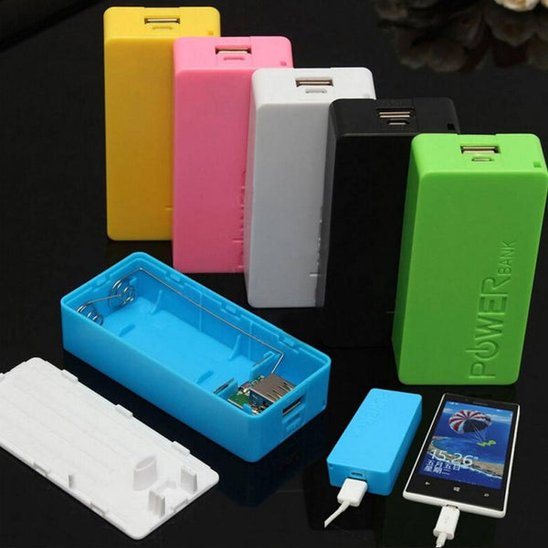 5600mAh 2X 18650 USB Portable Power Bank Battery Charger Case DIY Box For iPhone Sumsang