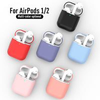 New Silicone Cases for Airpods1 2nd Luxury Protective Earphone Cover Case for Apple Airpods Case 1&2 Shockproof Sleeve