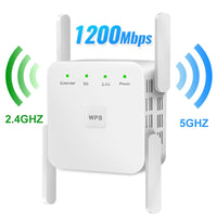 WiFi Repeater WiFi Extender 2.4G 5G Wireless WiFi Booster Wi Fi Amplifier 5ghz Wi Fi Signal Repeater Wi-Fi