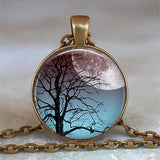 Tree Of Life Glass Cabochon Statement Necklace & Pendant Jewelry Vintage Charm Chain Choker Steampunk Jewelry Gift for Women