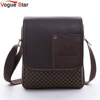 Vogue Star 2017 New hot sale PU Leather Men Bag Fashion Men Messenger Bag small Business crossbody shoulder Bags YK40-449