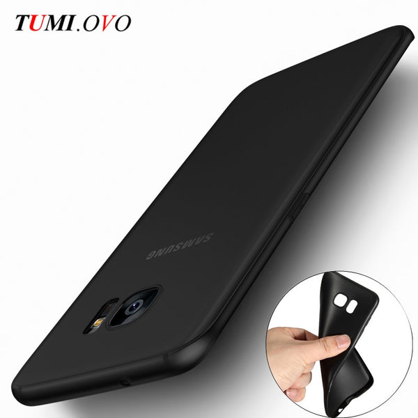 Ultra Thin Black Scrub Matte Soft Silicon TPU Case for Samsung Galaxy J1 J3 J5 J7 A3 A5 A7 2015 2016 2017 S5 S6 S7 Edge S8 Plus