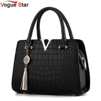 Crocodile Leather Women Bag Pendant Designer Handbag Luxury  Lady Shoulder Crossbody Bags Fringed Female Messenger Bag LB249