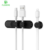 FLOVEME Magnetic Cable Winder Wire Organizer Desktop Clips Cord Management Headphone Cord Holder For iPhone Charging Data Cable