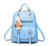 Vogue Star New Designer Women Backpack For Teens Girls Preppy Style School Bag PU Leather Backpacks Ladies High Quality  LB299