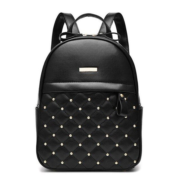Women Backpack Hot Sale Fashion Causal bags High Quality bead female shoulder bag PU Leather Backpacks for Girls mochila LB271