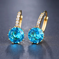 EMMAYA Fashion 10 Colors AAA CZ Element Stud Earrings For Women